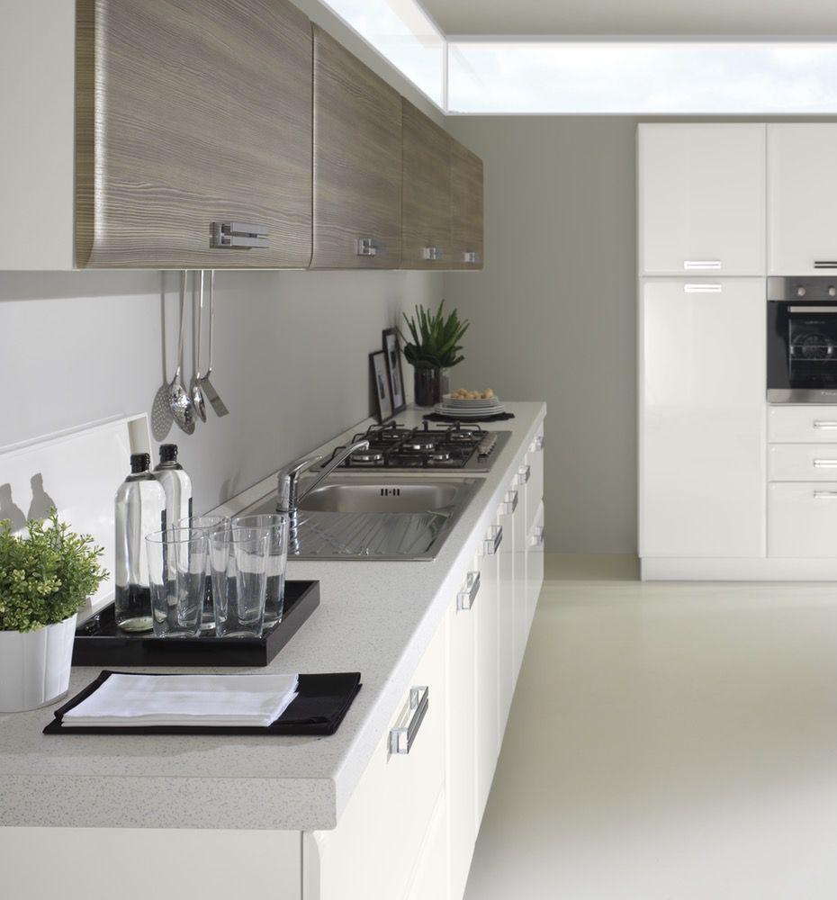 Cucina moderna Ambra impreziosita di elementi living - NETCUCINE
