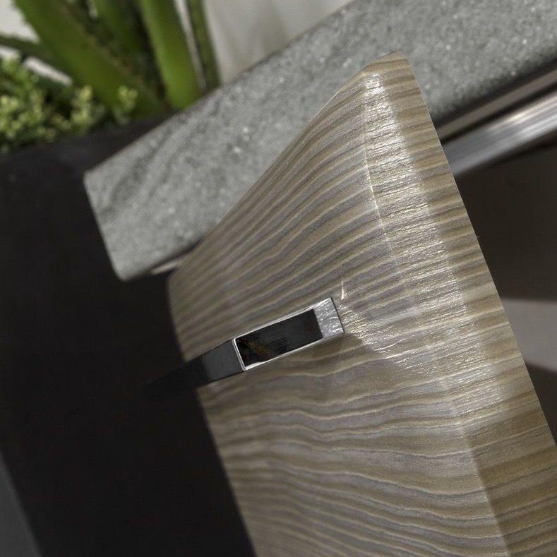 Cucina moderna Ambra profilo a saponetta anta grigio finitura gessata