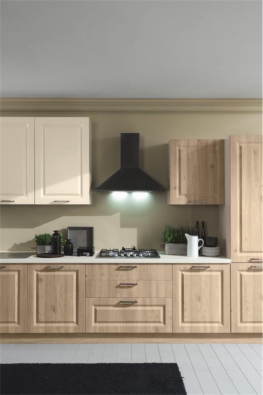 Cucina classica Anita, le essenze classiche del legno ...