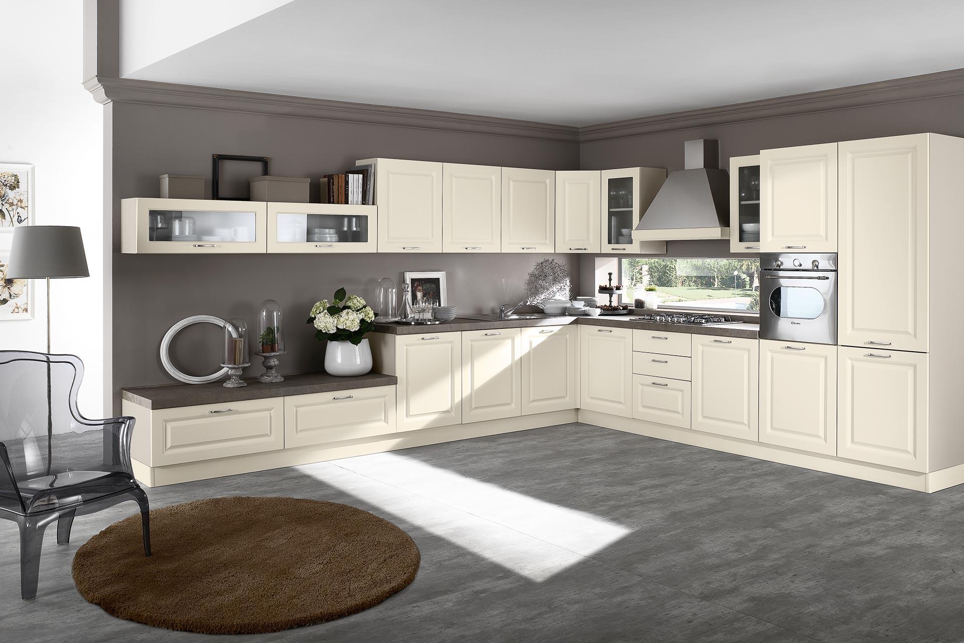 Cucina classica Anita, le essenze classiche del legno - NETCUCINE