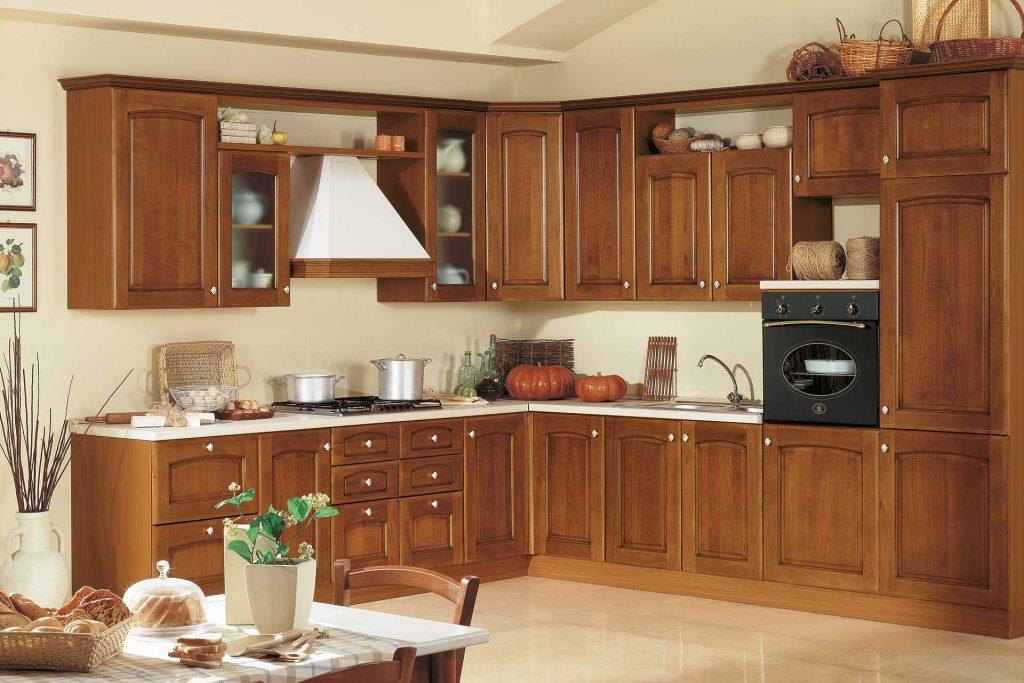 Cucina Classica Mary con finitura ciliegio