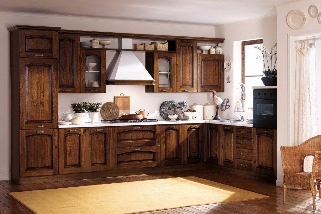 Cucina Classica Ninfa con finitura noce