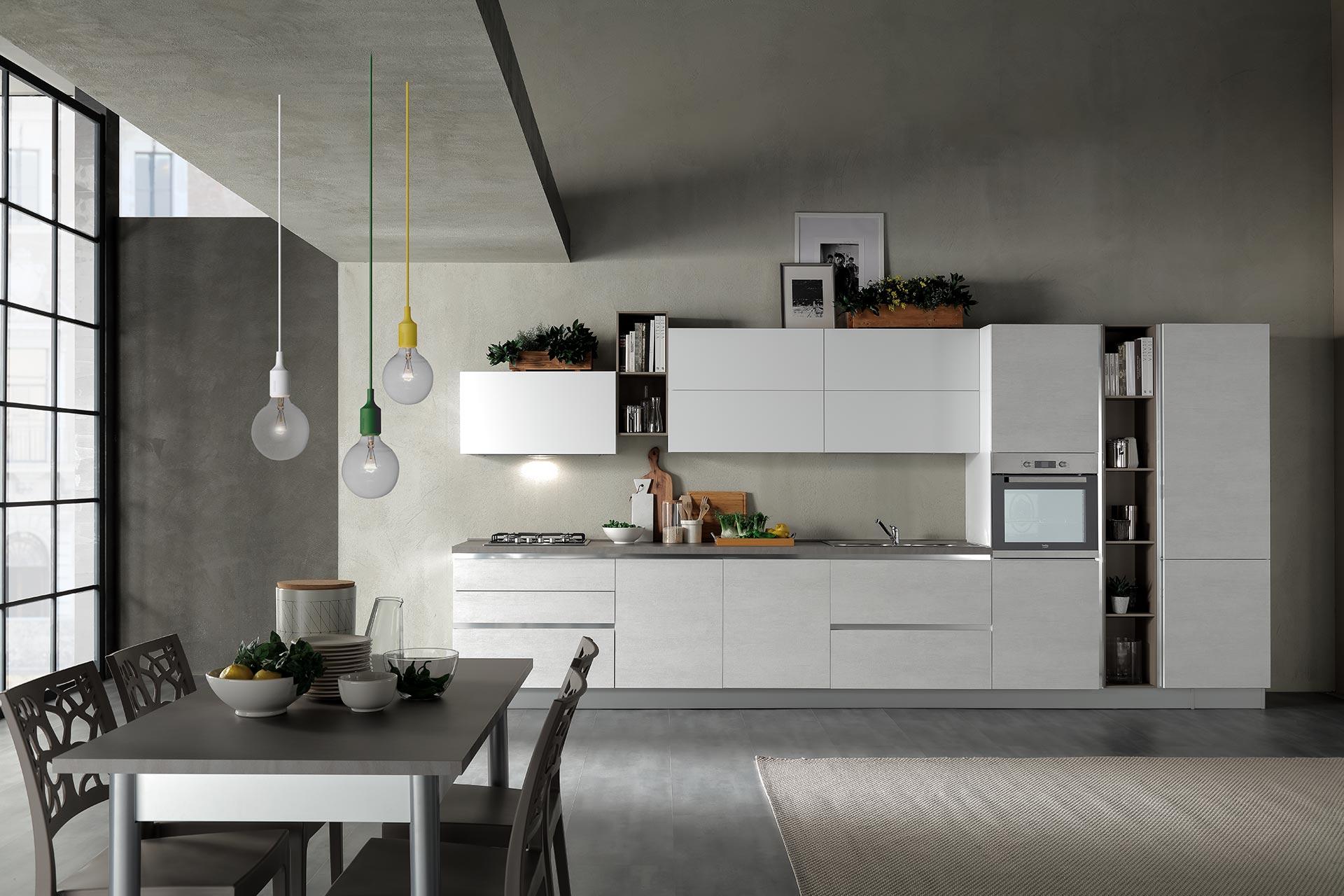 Cucine Moderne Bianco Grigio : Cucine rovere grigio e bianco cucina lube bianca e grigia cucina