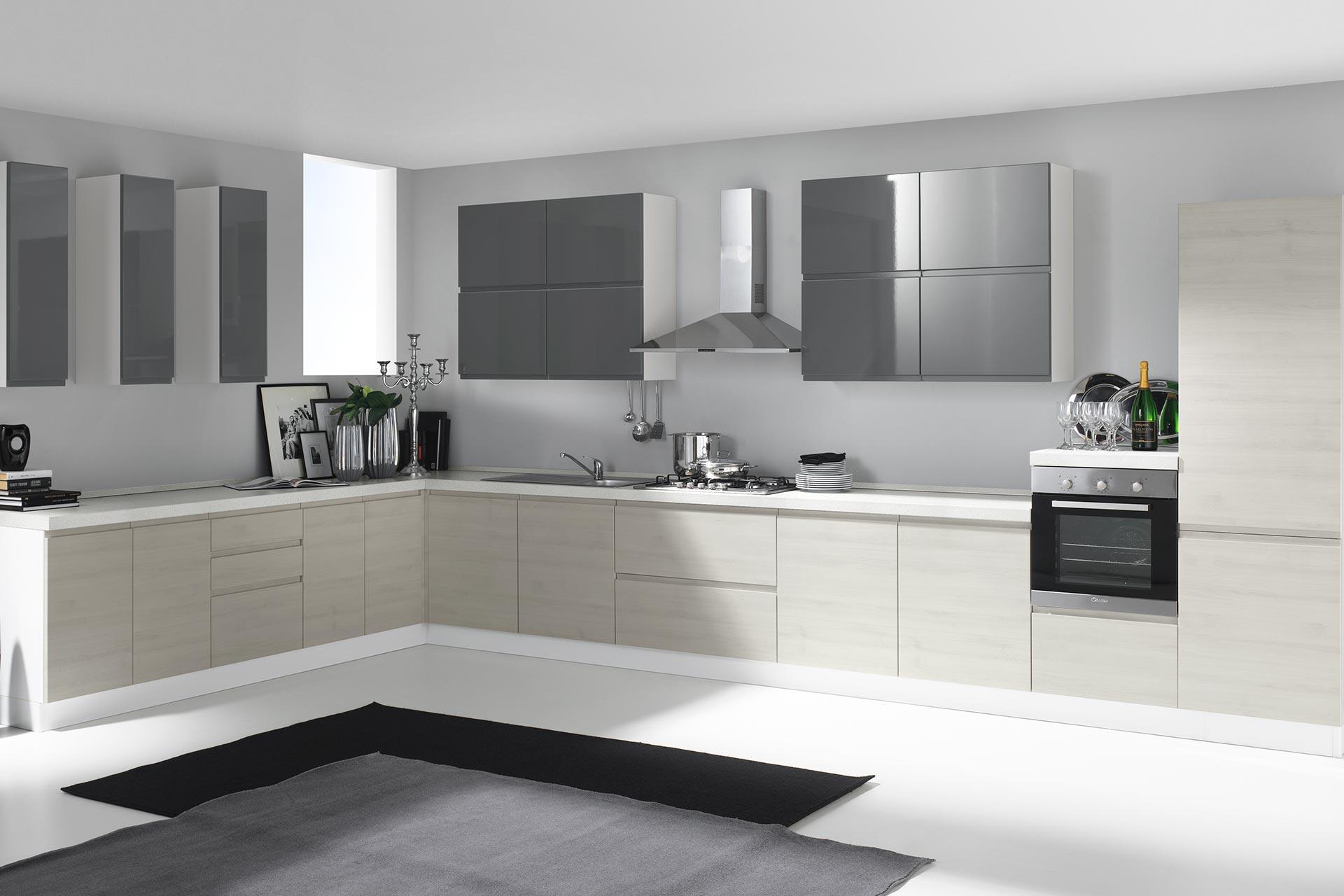 Produzione cucine con uno stile semplice ed essenziale for Cucina moderna 2018 pdf
