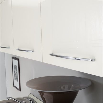 Cucina moderna Kira pensili bianco lucido