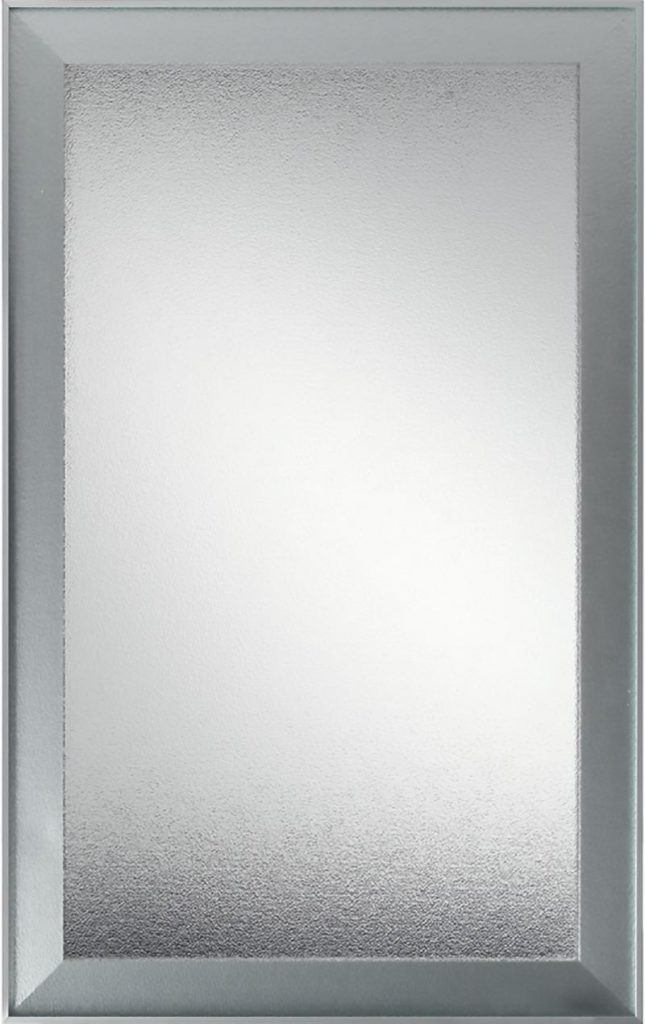 Vetrina con telaio in alluminio