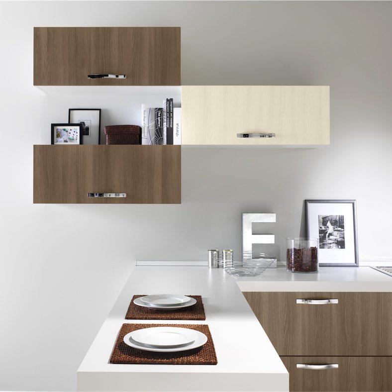 Cucina moderna Newsmart particolare tris moduli living