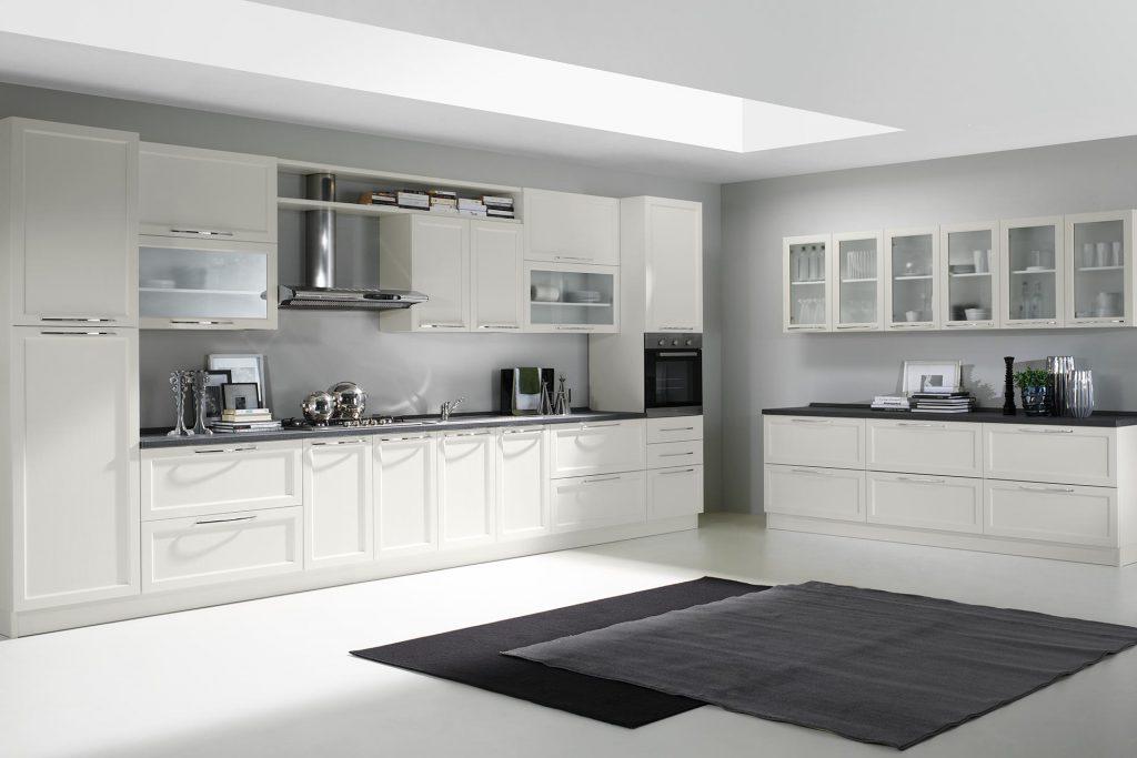 Cucina Moderna Patty con finitura bianco